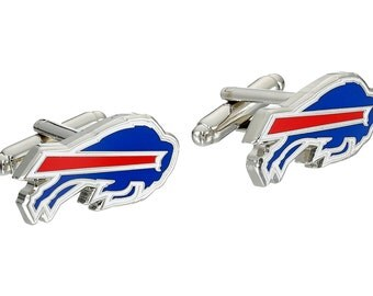 Buffalo Bills style Cufflinks Cuff Links Best man Groomsmen Wedding Gift Father's Day Graduation Dad Birthday Football