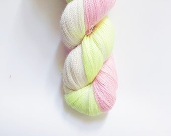 SALE Blushing Lemon 70/30 Baby Alpaca/Silk Lace Yarn