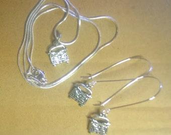 1970s VW Bus Necklace & Earring set