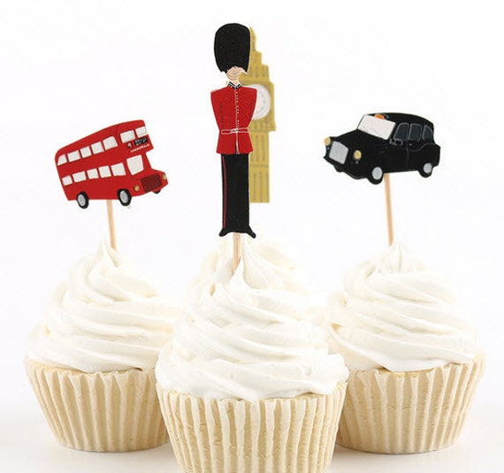 london themed wedding cake toppers ready to ship themed cupcake toppers big ben tower 16927