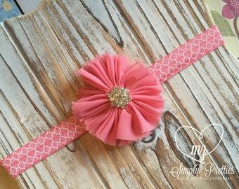 Pink Headband - Bubble Gum Headband - Pink Newborn Headband - Baby Flower Headband - Bubble Gum Pink Flower - Photography Headband Prop