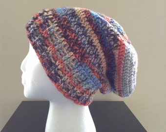 The Wesley | Multi-Color Crochet Slouchy Beanie