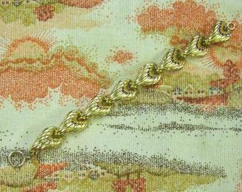 Vintage Anne Klein Bracelet Gold Plated