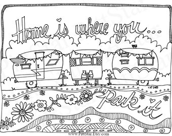 Pop Up Camper Trailer Coloring Pages Sketch Coloring Page