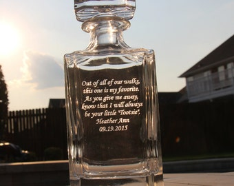 Gifts for Dad New Dad Gift Daddy and Son Daddy Dad Gifts Dad Birthday Father of the Bride Gift Father of the Groom Gift Fathers Day Decanter