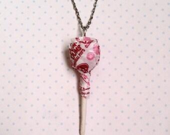Dum-Dum Pop necklace, polymer clay