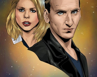 Dr Who 9th Doctor Print