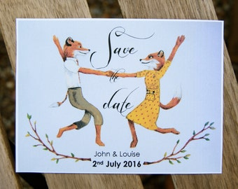 Fantastic Mr Fox Save the Date cards