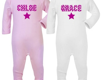 Personalised romper suit