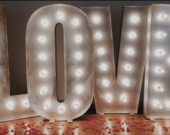For HIRE*** Rustic 4ft Illuminated LOVE letters for weddings, parties etc (Sheffield) Deposit payment