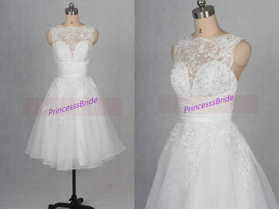 Short White Tulle Homecoming Dress With Lace Cheap Prom