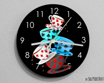 Mad Tea Party Alice in Wonderland Wall Clock
