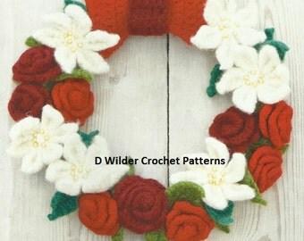 Christmas Wreath Crochet PDF Pattern
