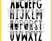 The Tall Type Alpha, includes all the letters of the alphabet, that can be used for your scrapbooking and papercrafting projects.