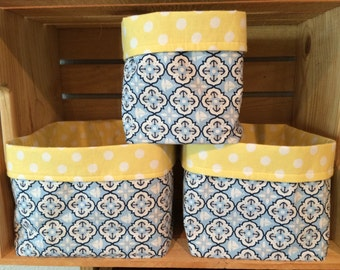 Anchor & Polka Dot Fabric Bins