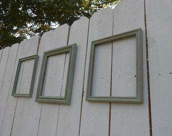 Distressed Pistachio Frames - Set of Three