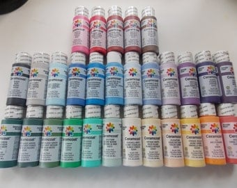 Acrylic Paint 2 oz Bottles Ceramcoat Acrylic Paint 5 for 8.75 or 10 for 16.00  Lots of Colors