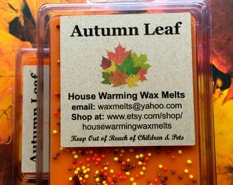 Autumn Leaf Wax Melt, fall scent wax melt, soy melt, wax clamshell