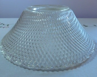 """Vintage Lampshade 11"""" wide 4"""" High Very Unusual Double Sided Ribbed Design"""