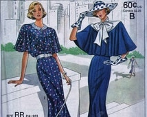 20s 30s Dress Sewing Pattern Reinactment Dress Pattern Costume Town Dress Reissue Uncut 14- 20