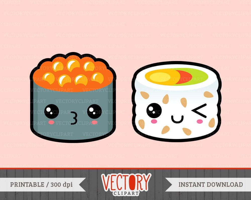 13 Kawaii Sushi Clipart Cute Sushi