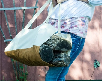 Log Carrier, Firewood Tote, Heavy Duty Canvas Firewood Log Carrier, Fireplace Wood Log Tote