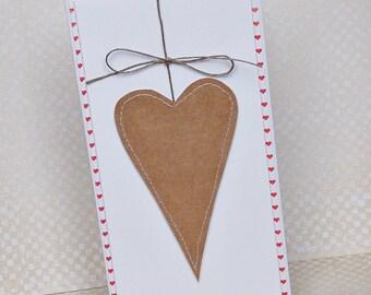 Handmade Valentine's Card, Handmade Love Card, Heart Card