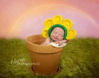 Crochet Sunflower Hat