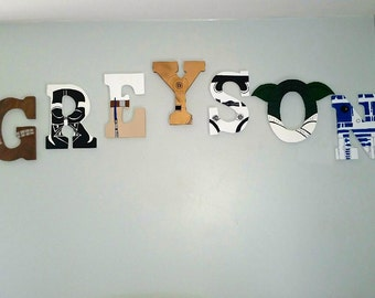 Star Wars Letters Hand Painted