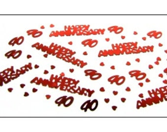 Ruby Anniversary table confetti, 40th wedding anniversary, anniversary, wedding supplies, wedding decorations, table decorations, UK seller