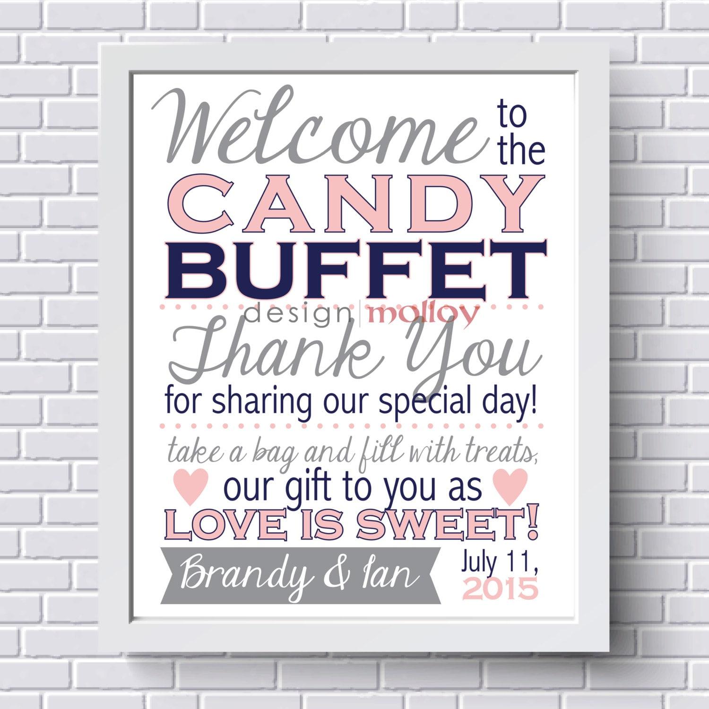 candy buffet sign candy bar sign wedding candy buffet sign
