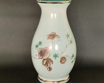 Czech Bohemian Hand Painted Glass Vase