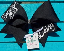 Baby Got Back - Backspot Cheer Bow, stunt group cheer bow, custom cheer bow, name cheer bow, custom cheer bow
