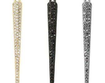 Pave Crystal Spike Charm (1pc)