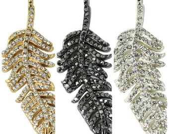 Pave Crystal Feather Charm (1pc)