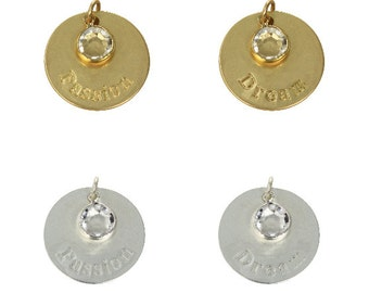 24mm Passion & Dream Inspirational Disc Charm (3pc)