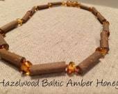 Hazelwood for GUT, Gerd, acid reflux, ulcers, heart burn mixed with Baltic Amber Necklace Bracelet baby Toddler