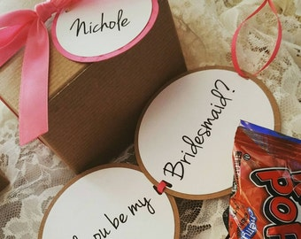 Bridesmaid Proposal Boxes/ Ring Pop Proposal/ Bridesmaid Boxes