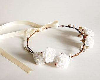 Handmade Flower Crown, Floral Crown, Wedding Flower Crown, Flower Girl Flower Crown, Bridal Headpiece