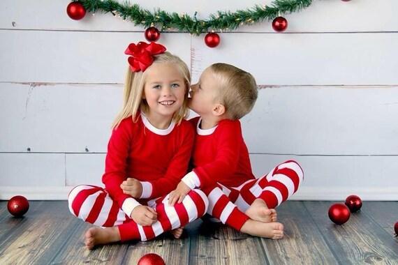 Christmas Pajamas! Red & White Stripe!