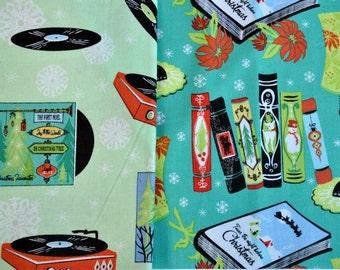 Fabric destash 12 Twelve Joys of Christmas set of 2 Fat Quarters  Sherry Lindhurst