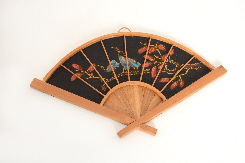 Vintage wall decor bamboo fan vintage decor fan bamboo fan - Wall fans decorative ...