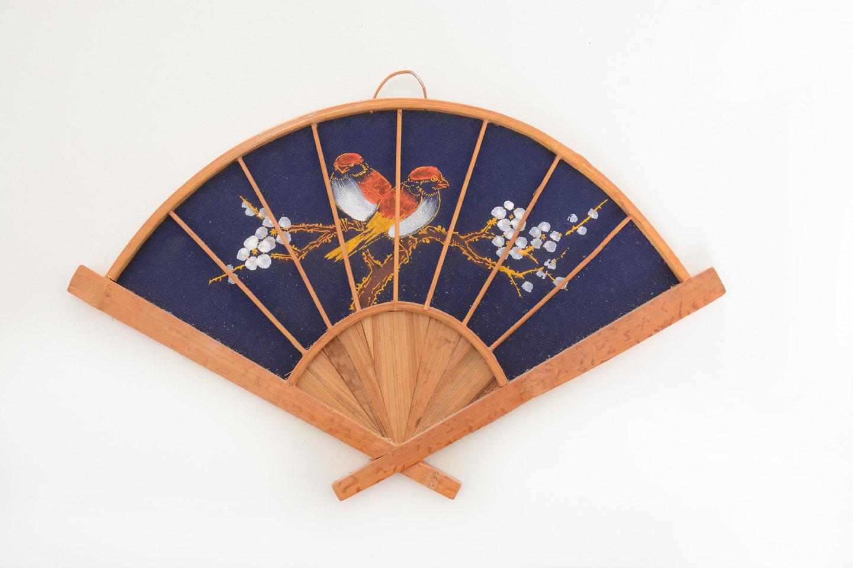 Vintage wall decor fan vintage decor fan by brocantebcn on etsy - Wall fans decorative ...