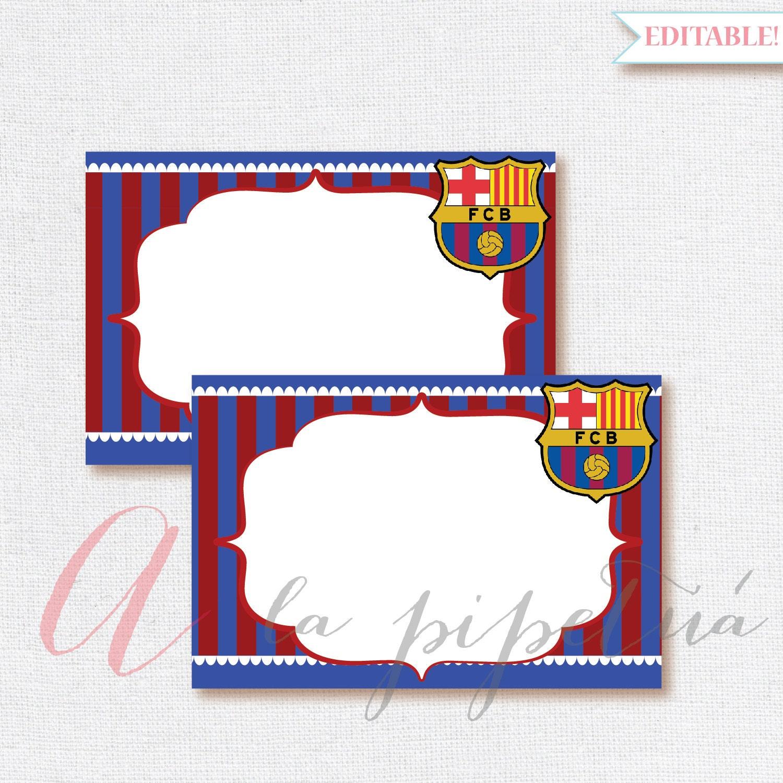 Barcelona Printable. Printable Favor Tags Soccer Birthday Diy