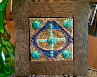 Oak Frame with Unique Tile