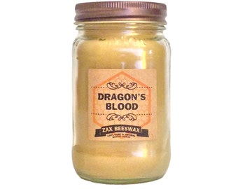 Dragons Blood Scented Beeswax Mason Jar Candle | 16 oz