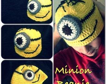 Minion Beanie w/ 3D Goggle