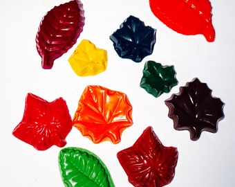 Leaf Crayons! Party favors. Nature