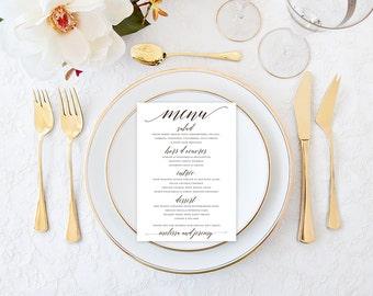 Scripty Dinner Menu - Wedding Reception Dinner Menu