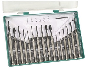 Precision Jewelers Screwdriver Set 16pc kit for eyeglass repair electronics computers small craft projects cell phones toys and more